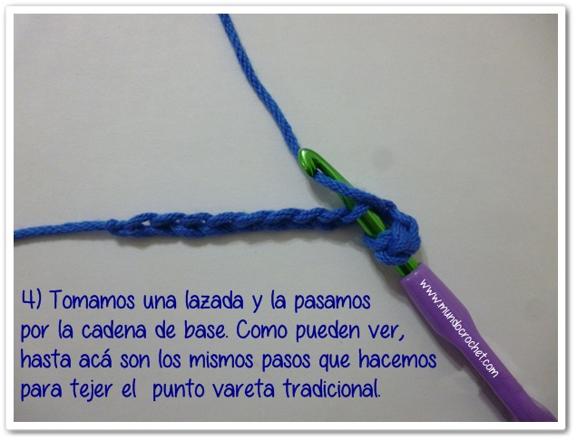 Punto vareta inclinado o herringbone double crochet4