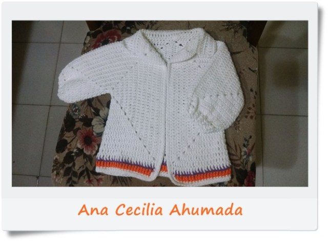 Campera, saquito, chambrita hexagonos crochet o ganchillo1
