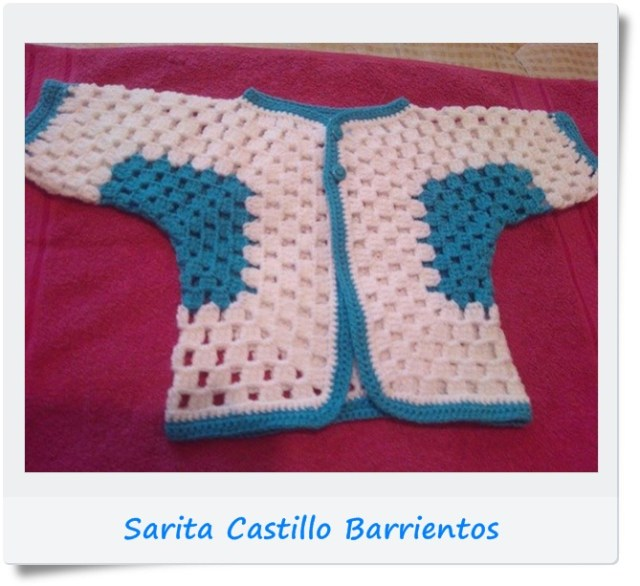 Campera, saquito, chambrita hexagonos crochet o ganchillo6