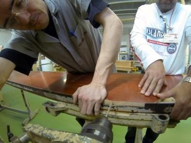 Construção do molde na Móveis Rudnick
