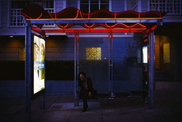 night time muni shelter by stephanie tan