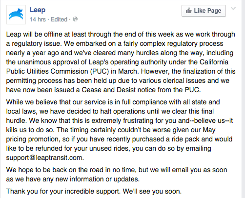 leap facebook update