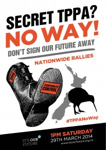 National mobilisation against TPPA on Saturday 29 March: 15 towns