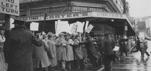 1951 march, Cuba Street, Wellington