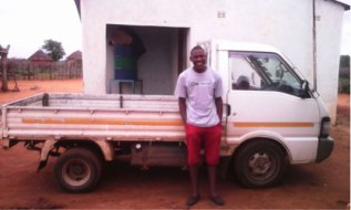 Muonde's intrepid little truck, bought and imported in South Africa with the practical help of one of our founders, Dr. B.B. Mukamuri, enables people and goods to criss-cross the area daily; carefully driven by Muonde's driver, Tatenda Simbine