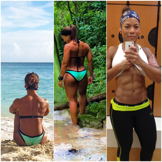Lisandra after TSPA. Ripped. More muscle. A revamping at 35 yrs old