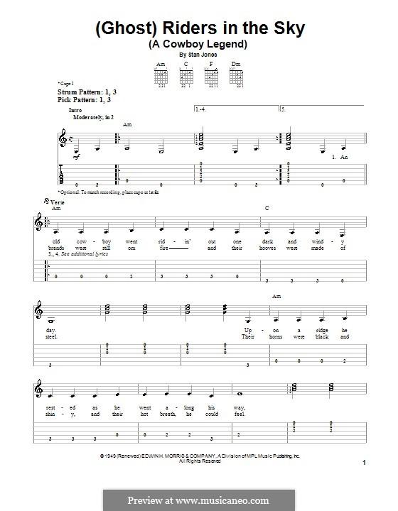 Ghost riders in the sky chords | Faith Center Church