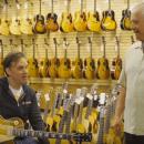 Norman Harris and Joe Bonamassa at Rare Guitars shop