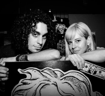 The Two Tens sign with Man Della Records - photo by Chris Barber