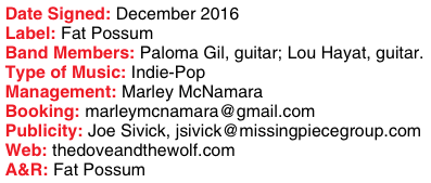 The Dove & the Wolf signing story info