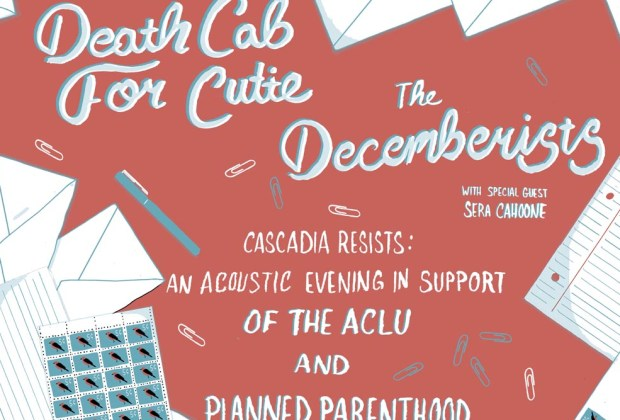 Death Cab for Cutie and the Decemberists benefit show