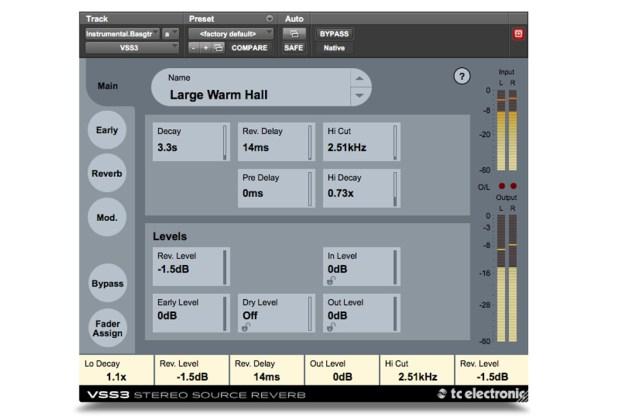 VSS3 Stereo Source Reverb