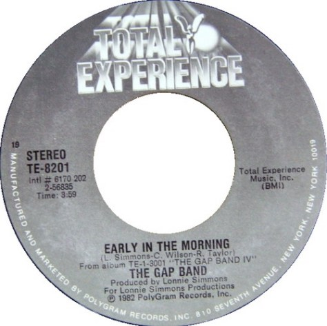 The Gap Band - Early in the Morning 7 inch scan