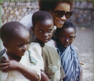 Cleotha Staples With Local Children 1971