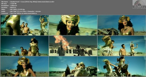 Claudia Pavel – Crazy [2010, HDrip] Music Video (Re:Up)