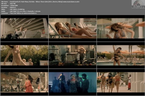 David Guetta ft. Nicki Minaj & Flo Rida – Where Them Girls [2011, HD 1080p] Music Video