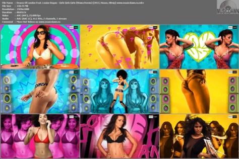 Drums Of London Feat. Louise Bagan - Girls Girls Girls (Wawa Remix) 2012, HD 1080p