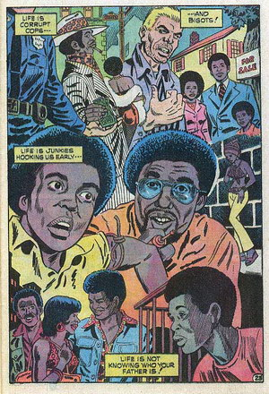 Up From Harlem Comics: Life is junkies hooking us early...
