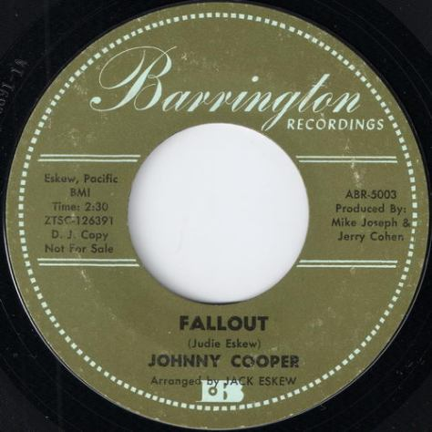 "Johnny Cooper – Fallout (Barrington) [7""] '1967"