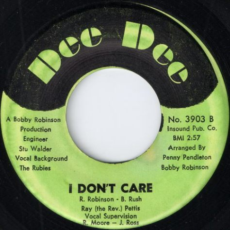 Ray Pettis - I Don't Care (Dee Dee)