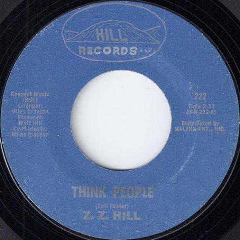 "Z.Z. Hill - Think People (7"")"