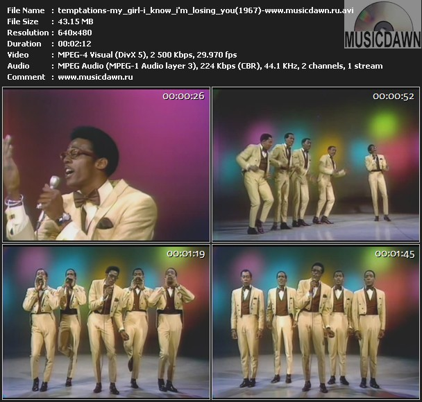 Temptations - My Girl - I Know I'm Losing You (1967) Music Video