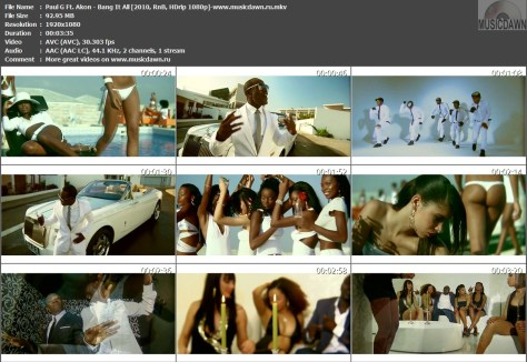 Paul G Ft. Akon – Bang It All [2010, HDrip 1080p] Music Video