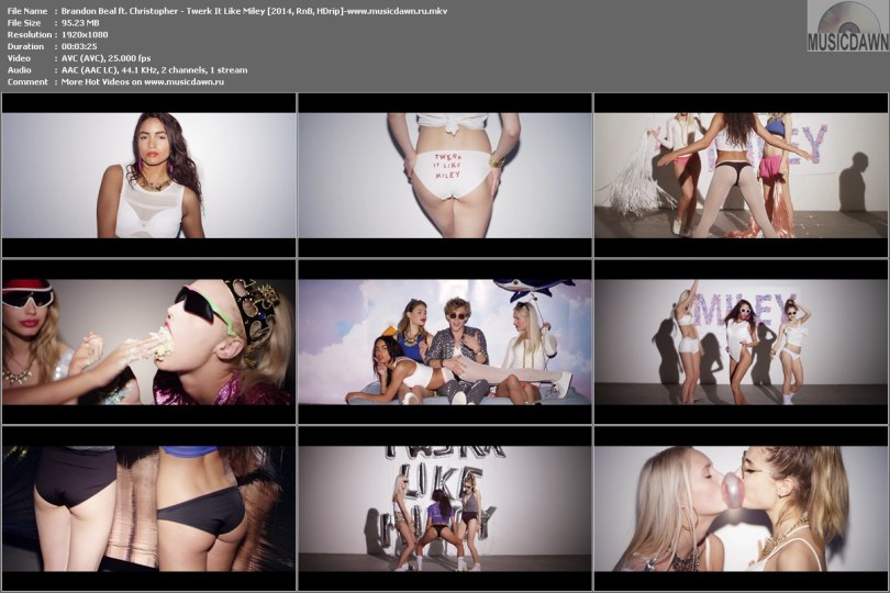 Клип Brandon Beal ft. Christopher - Twerk It Like Miley HD 1080p