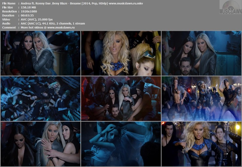Клип Andrea ft. Ronny Dae & Beny Blaze - Besame [2014, HD 1080p]