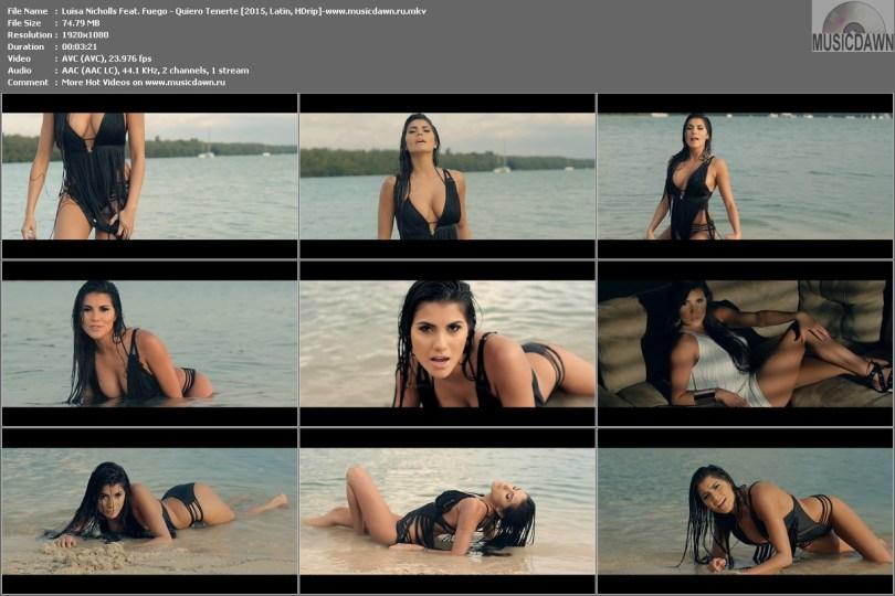 Клип Luisa Nicholls Feat. Fuego - Quiero Tenerte 2015, HD 1080p Video