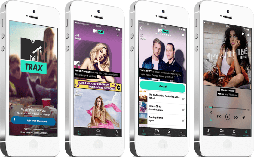 MTV Trax screens