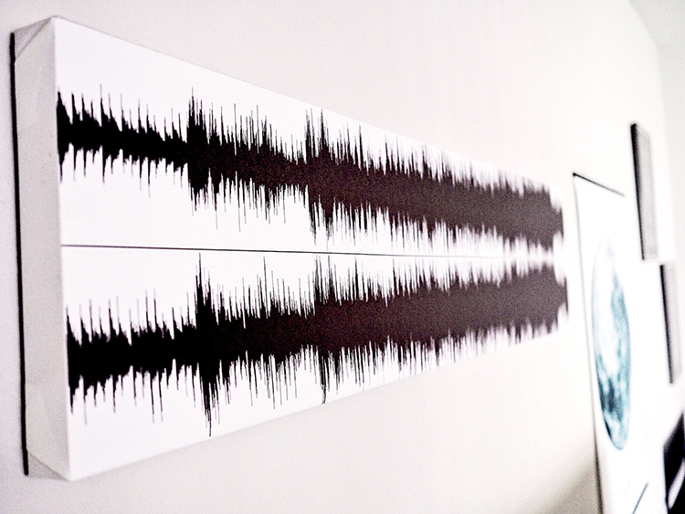 This simple DIY soundwave art tutorial can turn a special song or spoken memory into personalized art you can carry with you through life.