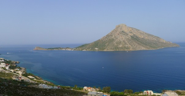 The island of Telendos from Kalymnos. Photo- Calum Muskett