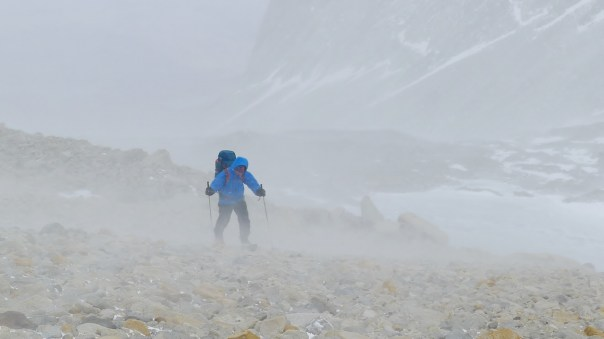 Ferrying gear up to ABC in 'poor' conditions. Photo- Calum Muskett