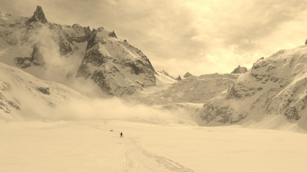Skiing down the Vallee Blanche. Photo- Calum Muskett