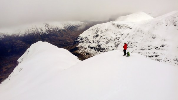 A rare break in the clouds on Stob Coire nan Lochan. Photo - Calum Muskett