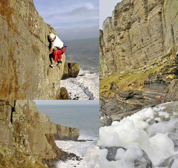 Benno Wagner climbing 'Melody' E8 6b in atmospheric conditions! Photo - Calum Muskett