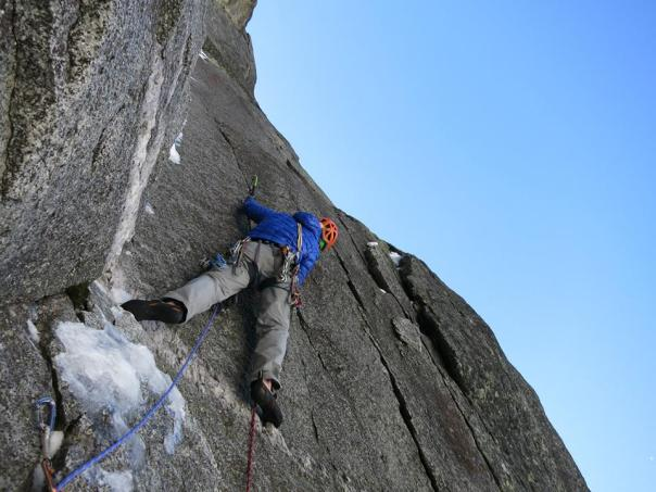 Thin hooking up the 6th pitch. Photo - Jon Bracey