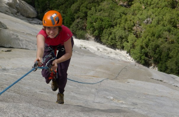 Gabby jumaring up to Heart ledges on an ill-fated El Cap attempt.... Photo - Calum Muskett