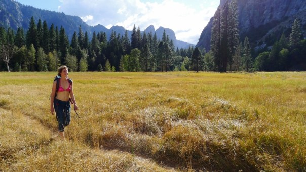Great weather to spend time amongst the meadows of the Yosemite valley. Photo - Calum Muskett