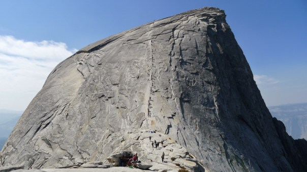 A busy day coming down the main trail of Half Dome. Photo - Calum Muskett