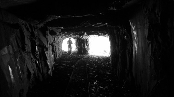 The Golgotha tunnel which leads in to Twll Mawr. Photo - Calum Muskett