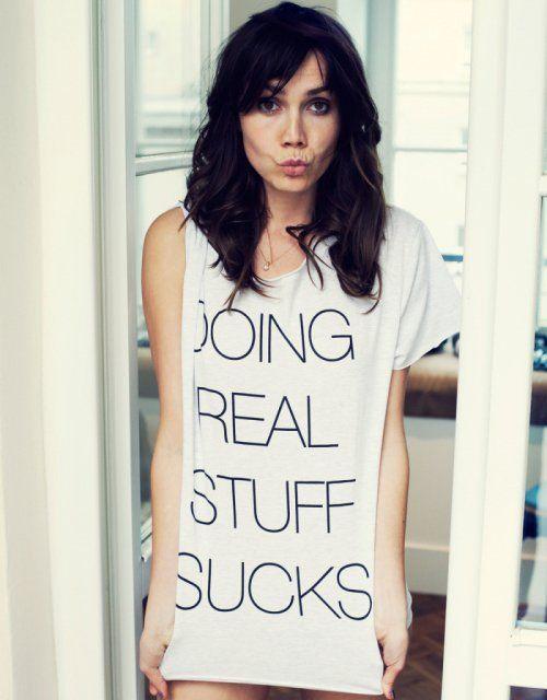 doing-real-stuff-sucks-shirt