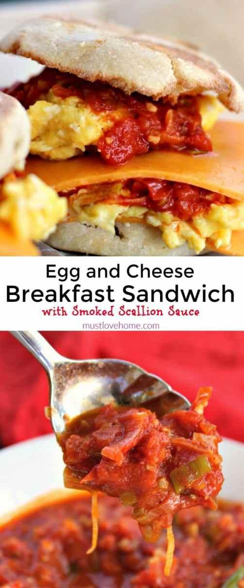 Egg-and-Tomato Breakfast Sandwich To Go Recipe — Dishmaps