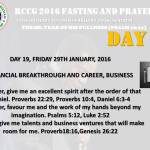 RCCG fasting 2016 DAY 19