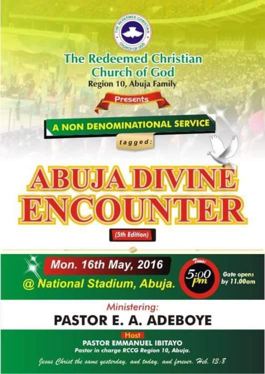 RCCG Abuja Divine Encounter May 2016