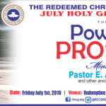 RCCG July 2016 Holy Ghost Service