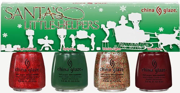 China Glaze Let It Snow Santa's Little Helpers Mini Pack