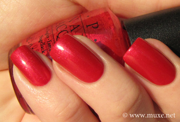 You Rock-apulco Red - OPI swatch
