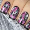 Pink & black grunge nails